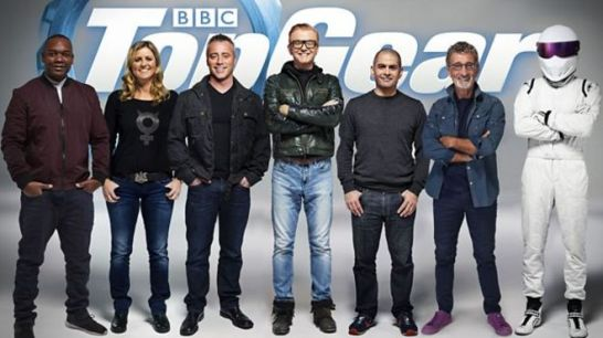 "O elenco do reboot da BBC de ""Top Gear"""
